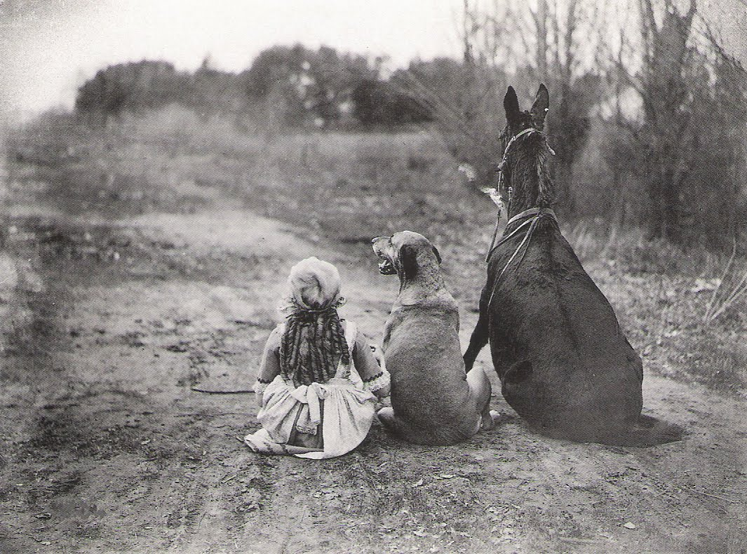 a-girl-a-dog-and-a-horse-1921
