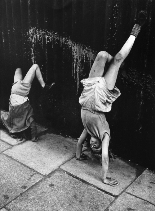 Girls Doing Handstands, Southam Street, London 1956