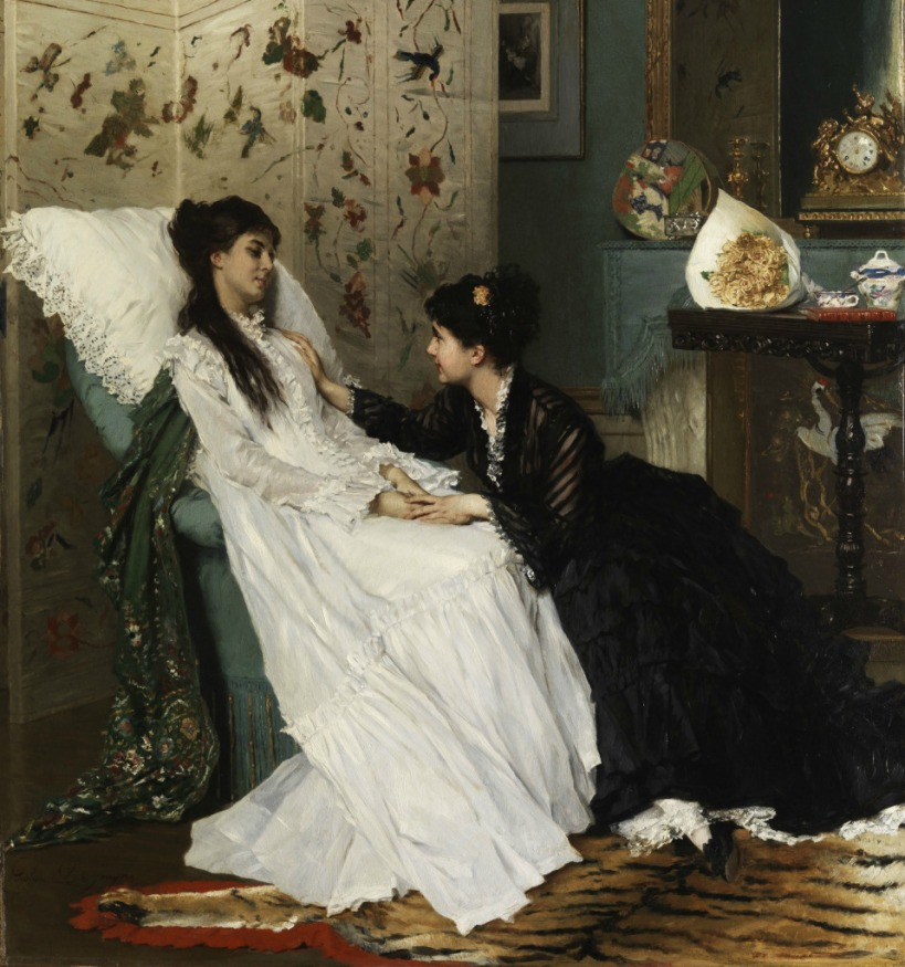 the-convalescence-by-gustave-lc3a9onard-de-jonghe-1829-1893