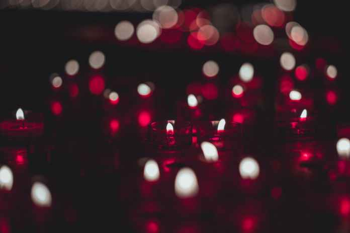 close up photo of red candles